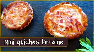 cuisine quiche lorraine recipe of the mini quiches lorraine