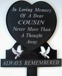 memorial plaque grave personalised cousin in loving memory