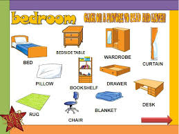 photo collection bedroom vocabulary learning the