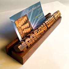 Wooden Desk Name Plates Best Wood Business Card Holders Products On Wanelo