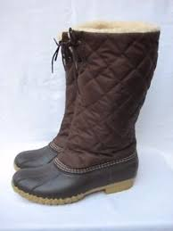 s bean boots size 9 s l l bean boots quilted lined duck boots fur lined size 9