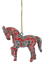 arcadia home handmade paper mache ornament