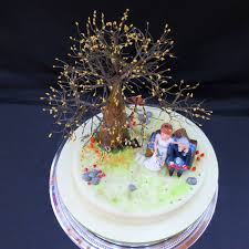 steve and jo autumn themed novelty wedding cake