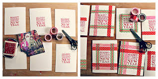 easy homemade christmas cards washi tape holiday cards babble