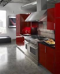 Kitchen With Red Appliances - 15 contemporary kitchen designs with red cabinets rilane