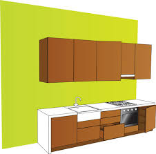 Set Of Kitchen Furniture Design Elements Vector Free Vector In