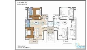 Floor Plans 1200 Sq Ft by 2 Bhk 1200 Sq Ft Apartment For Sale In Jaypee Greens Udaan At Rs