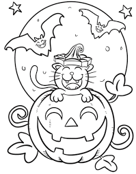 free halloween printable coloring pages