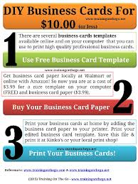 printing diy business cards at home for 10