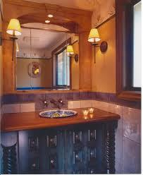 Rustic Bathroom Colors A Mexican Powderroom Rustic Bathroom Vancouver By The Sky