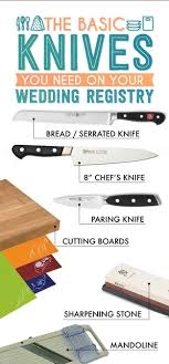 registry wedding ideas basic knives the essential wedding registry checklist for your