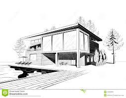 home design sketch free modern house architecture sketch modern house sketch stock photos
