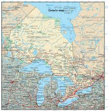 Map Of Ontario Canada Download Map Ontario Major Tourist Attractions Maps