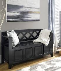 Entryway Furniture Storage Furniture Black Wooden Bench For Entry Way Furniture With Wooden