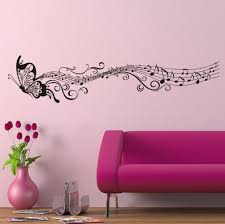 butterfly wall stickers roselawnlutheran butterfly wall sticker with music notes