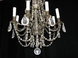 Antique Rock Crystal Chandelier Lighting The World Of Design