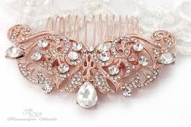 gold wedding hair comb bridal rhinestone hair comb wedding