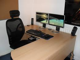 fancy home office setup with modern chairs and simple computer