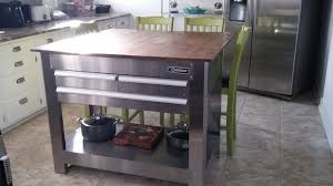 tool box island with butcher block top kitchen island ideas