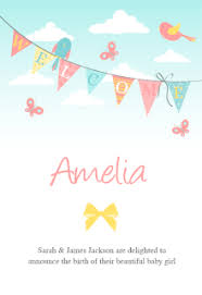 free baby birth announcement templates greetings island