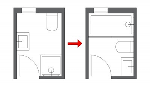 small bathroom layout but ideas from an architect to