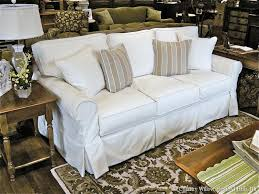 Slipcovered Sleeper Sofa Fancy Country Sofas With Sofas Sectionals Slipcovered Sofas