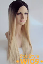 creating roots on blonde hair long blonde wig with black roots by star style wigs extra long