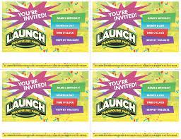 trampoline invitations printable invites launch methuen