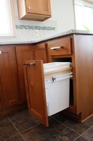 Wooden Kitchen Garbage Cans by Kitchen Utensils 20 Ideas Kitchen Trash Can Cabinet Single Pull