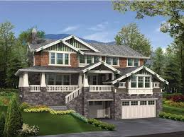 Narrow House Plans With Garage House Plans Walkout Basement Floor Plans Hillside House Plans