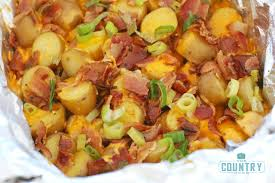 crock pot loaded little potatoes the country cook