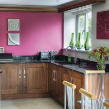 love the colours in this kitchen raspberry paint walnut