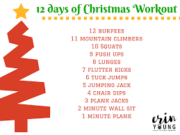 quick christmas workout erin young fitness