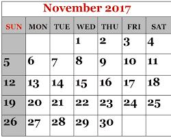 printable calendar page november 2017 november 2017 printable calendar templates printable calendar 2018