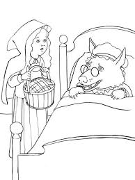 red riding hood coloring pages free printable red