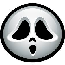 scream outline screaming ghost mask halloween outlined