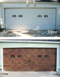 Faux Paint Garage Door - best 25 painted garage doors ideas on pinterest faux wood paint