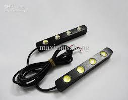 drl 4x led 12v auto led lights lens led light bar waterproof