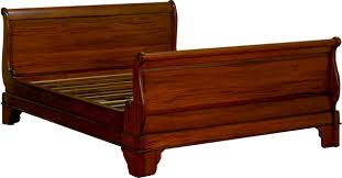 King Size Sleigh Bed Solid Mahogany Kingsize Sleigh Bed Antique Reproduction In