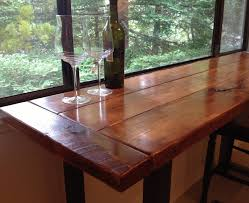 reclaimed wood dining room table with bench bench decoration