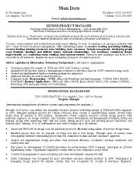 senior project manager resume 19812