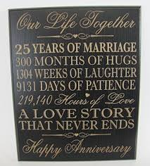 25 year anniversary gift best 25 25th anniversary gifts ideas on 25 year 25th