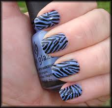 new years 2011 silver glitter tiger print design nail art tutorial