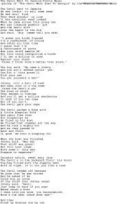 novelty song the devil went to jamaica travis meyer lyrics