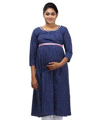 buy ziva maternity wear navy cotton kurtis online at best prices
