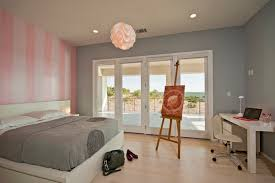 pink and gray bedroom spanish oaks residence bedroom contemporary bedroom austin