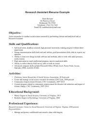 Sample Resume With Summary Of Qualifications Best Ideas Of Psychological Associate Sample Resume Also Job