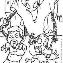 phantoms graveyard coloring pages hellokids