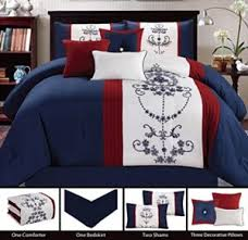 Red White Comforter Sets Red White Blue Bedding U0026 Comforter Set Abstract Color Comfy Bedding