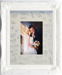 wedding signing frame white signature frames and mount size 20x16 for weddings
